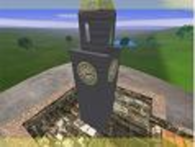 3D Tower Clock Screensaver Screenshot 1