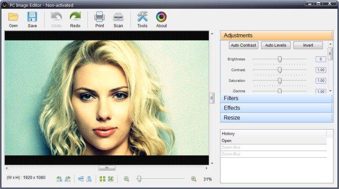 PC Image Editor Screenshot 2