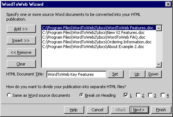 WordToWeb Screenshot 1