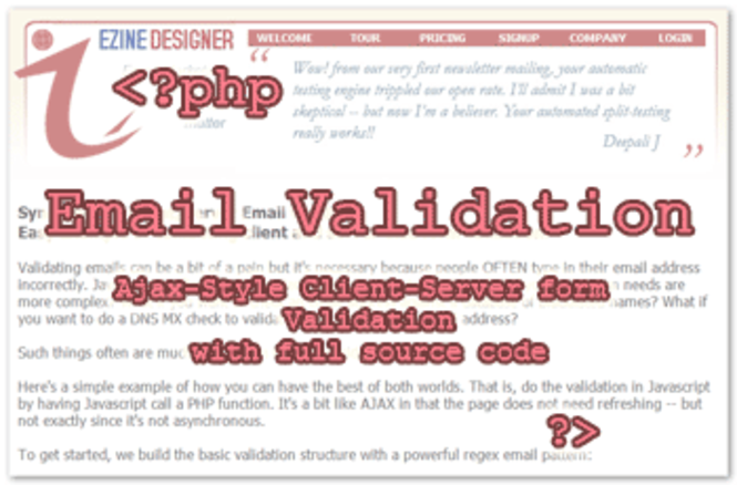 Email-Validation Screenshot 1