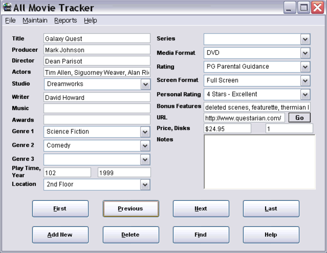 All Movie Tracker Screenshot 1