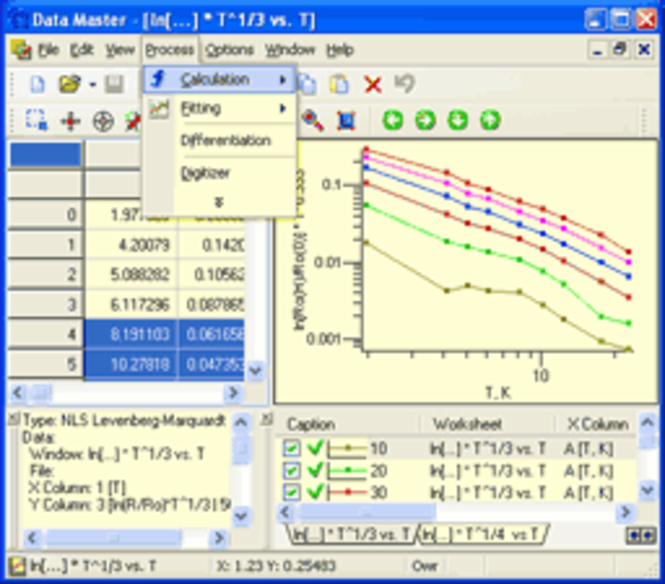 DMFitter ActiveX control Screenshot