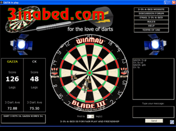 3-IN-A-BED WORLD DARTS Screenshot
