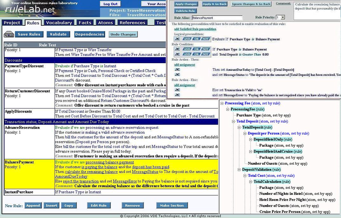 RuleLab.Net Business Rules Engine (BRE) Screenshot