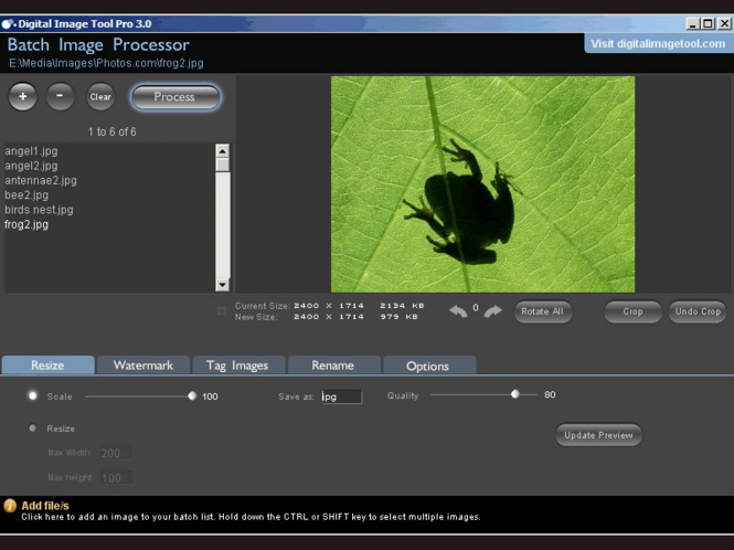 Digital Image Tool Screenshot