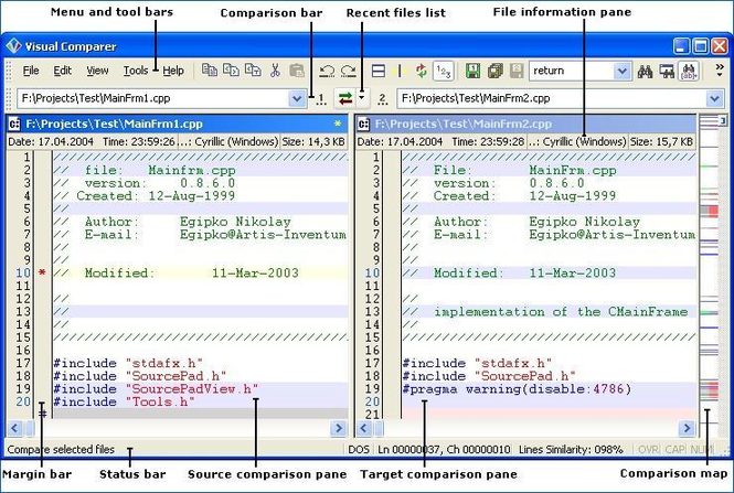 Visual Comparer Screenshot 1