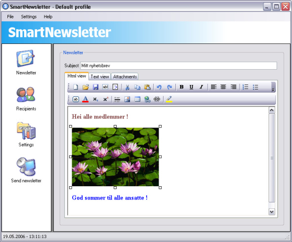 SmartNewsletter Screenshot