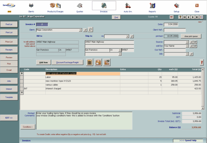 invoiceit!Lite - easy invoicing software Screenshot