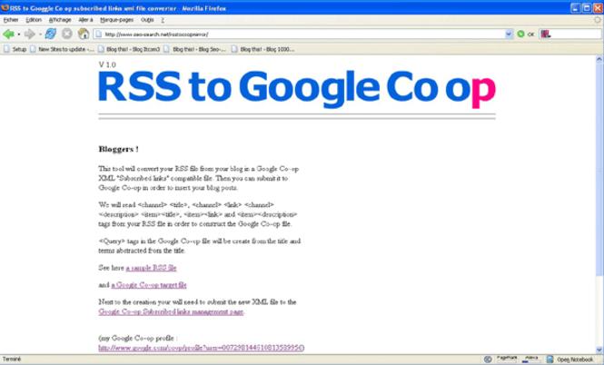 RSS to Co-op Screenshot
