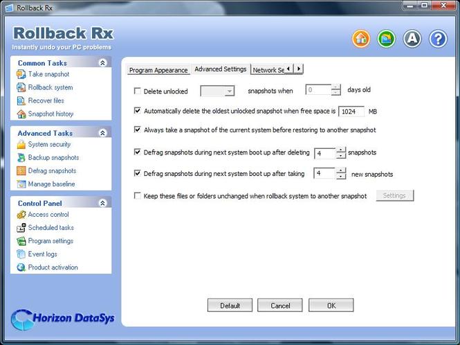 RollBack Rx Software - Professional Screenshot