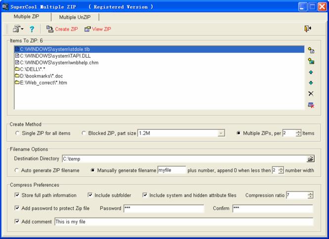 SuperCool Multiple ZIP Screenshot