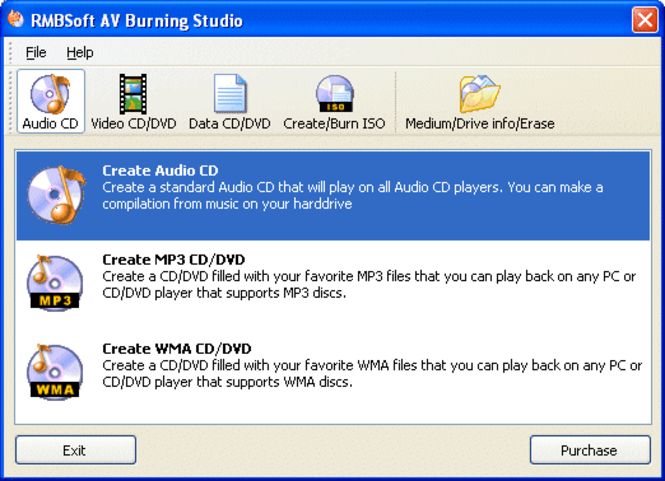 AV Burning Studio Screenshot