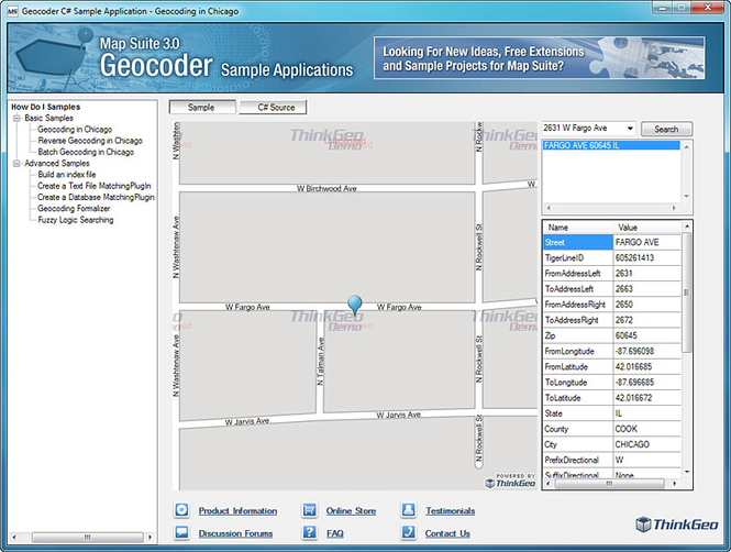 Map Suite Geocoder Screenshot