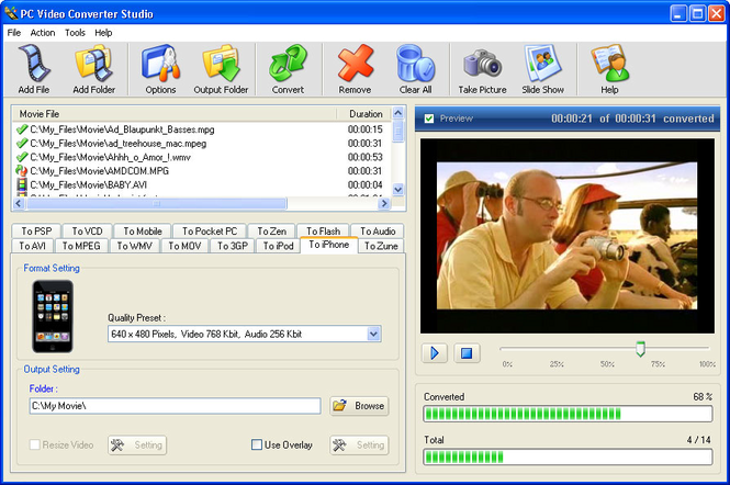 PC Video Converter Studio Screenshot