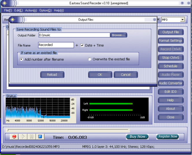 Eastsea Sound Recorder Screenshot 1
