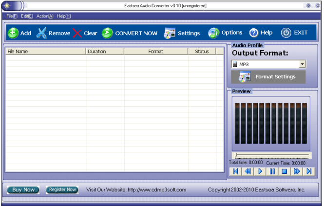 Eastsea Audio Converter Screenshot