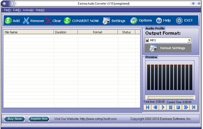 Eastsea Audio Converter Screenshot 1