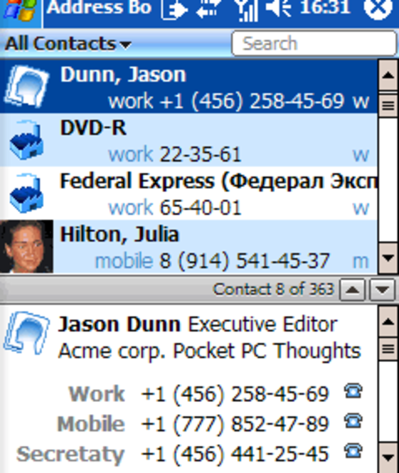 Inesoft Address Book Screenshot