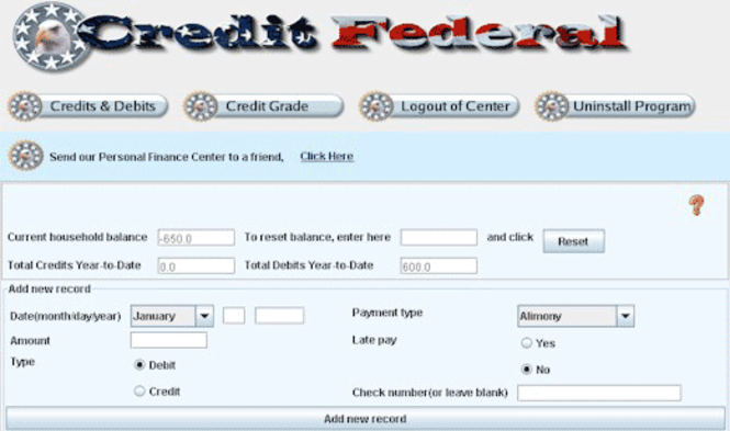 Personal Finance Center Screenshot