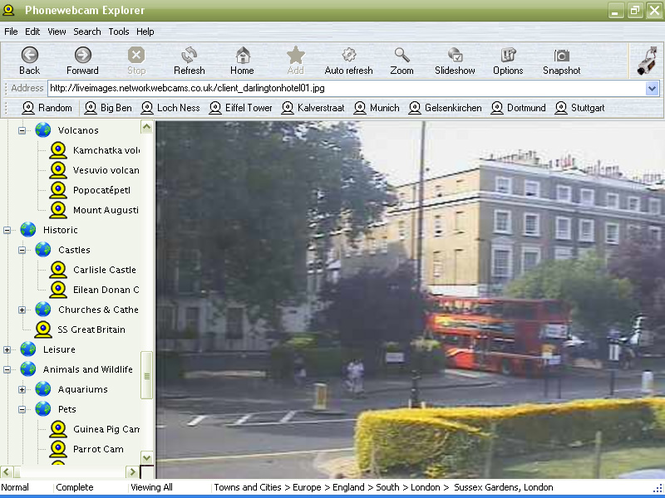 Phonewebcam Explorer Screenshot