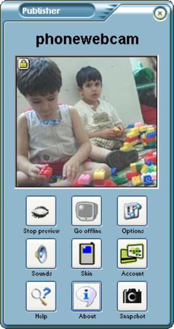 Phonewebcam Publisher Screenshot