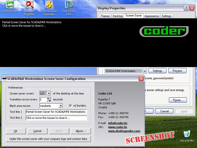 SCADA/HMI Workstation Screen Saver Screenshot