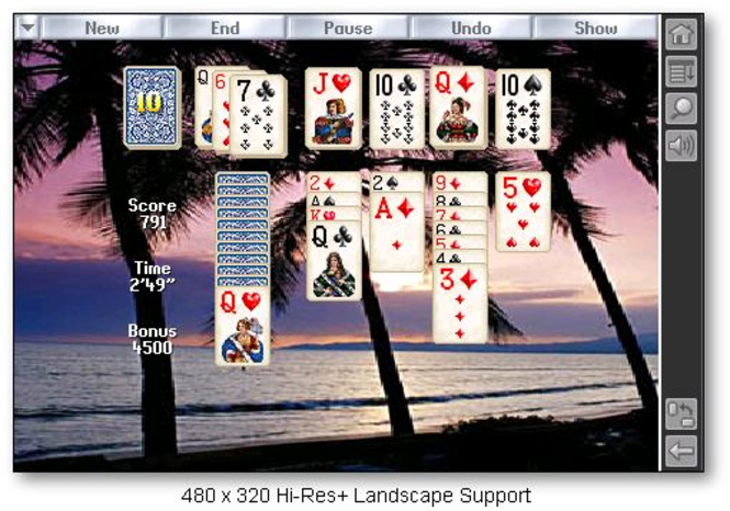 Solitaire City for Palm OS Screenshot
