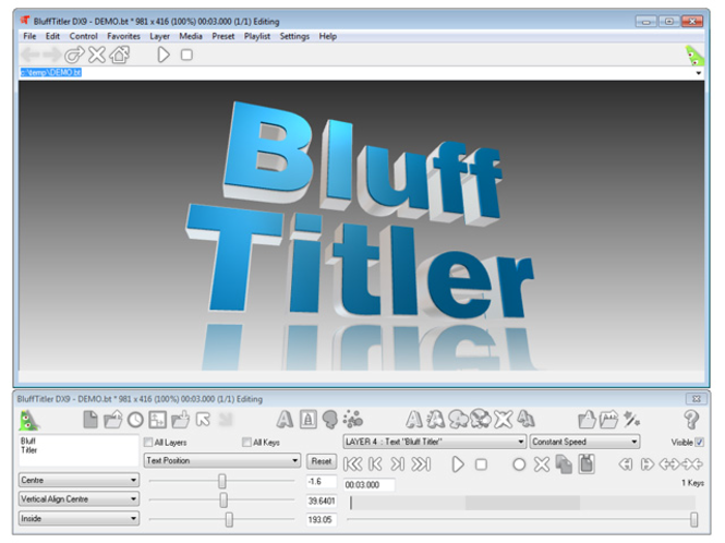 BluffTitler DX9 Screenshot 1