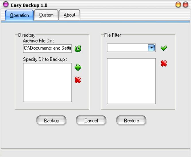 Easy Backup Screenshot 1