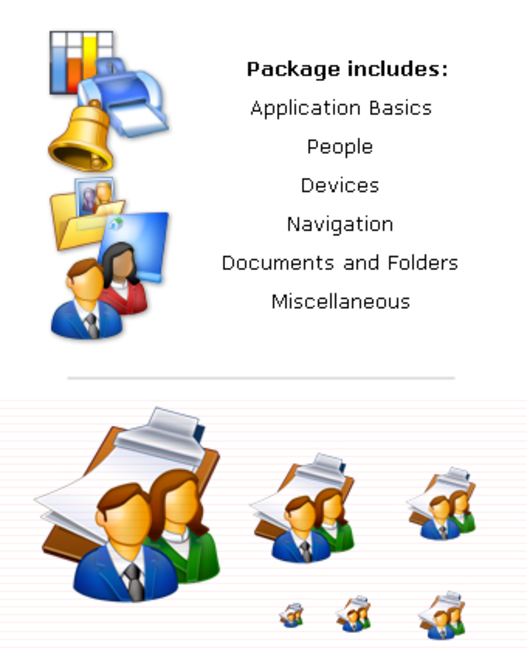 Business Icons Collection (XP) Screenshot 1