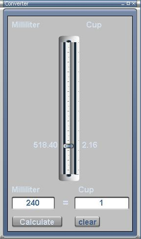 Milliliter Converter Screenshot
