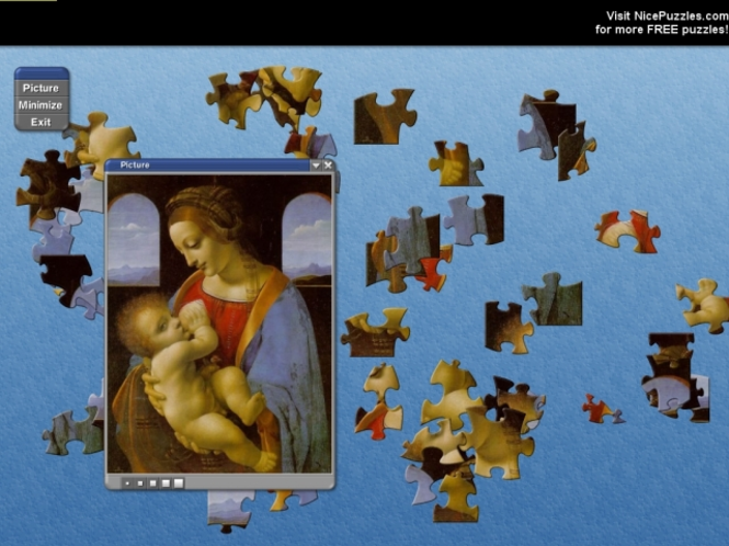 Leonardo Da Vinci Free Puzzle Game Screenshot