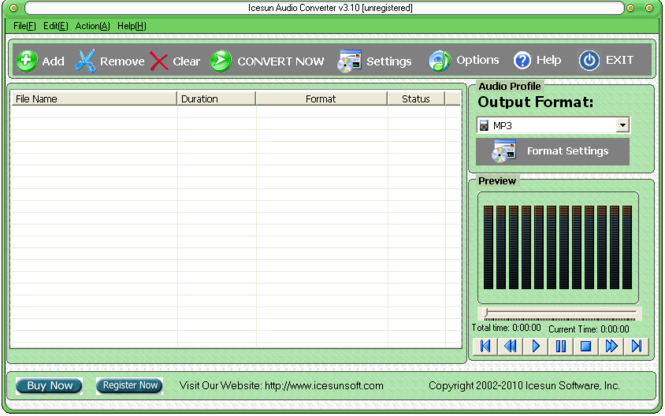 Icesun Audio Converter Screenshot
