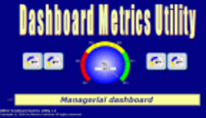 DMU©-Dashboard Metrics Utility Screenshot