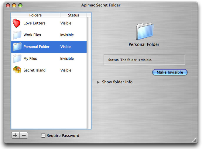 Secret Folder for Mac Screenshot