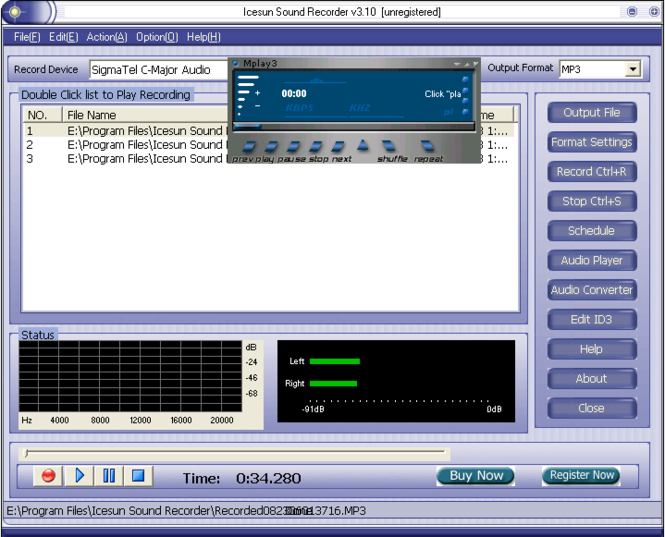 Icesun Sound Recorder Screenshot 1