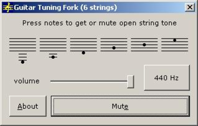 Guitar Tuning Fork Screenshot