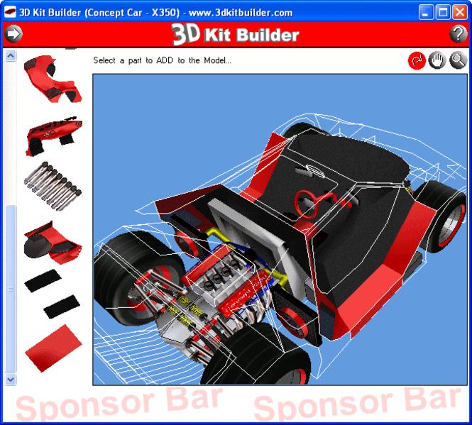 3D Kit Builder (Concept Car - X350) Screenshot