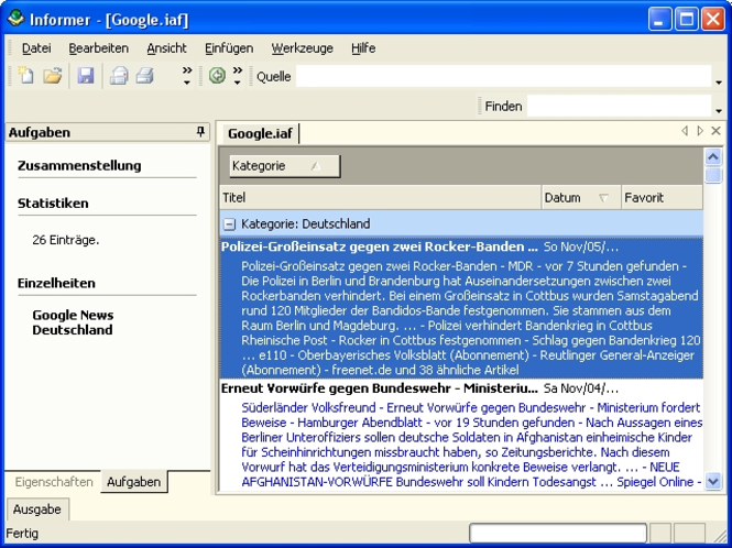 Dataconomy Informer Standard Edition Screenshot