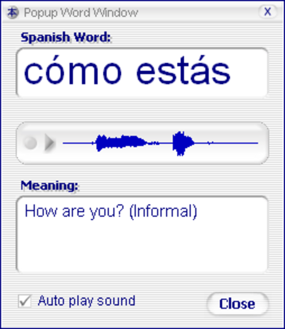Declan's Spanish Flashcards Screenshot