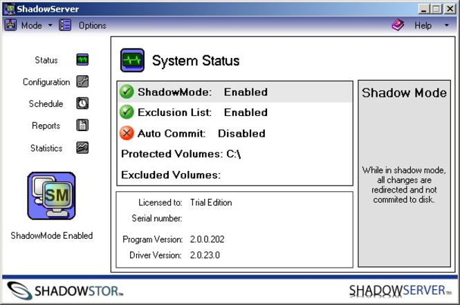 ShadowServer Screenshot