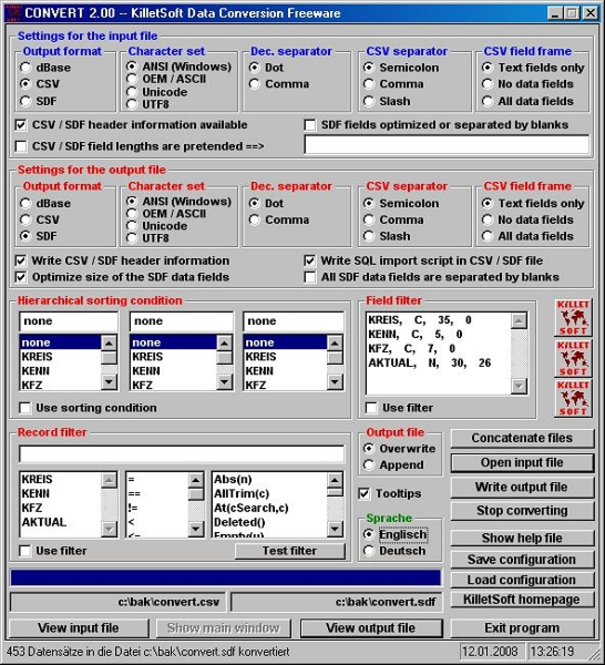 Killetsoft CONVERT Screenshot 1