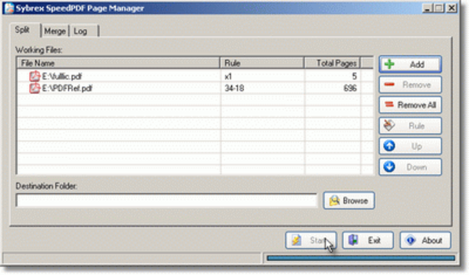 Sybrex SpeedPDF Page Manager Screenshot