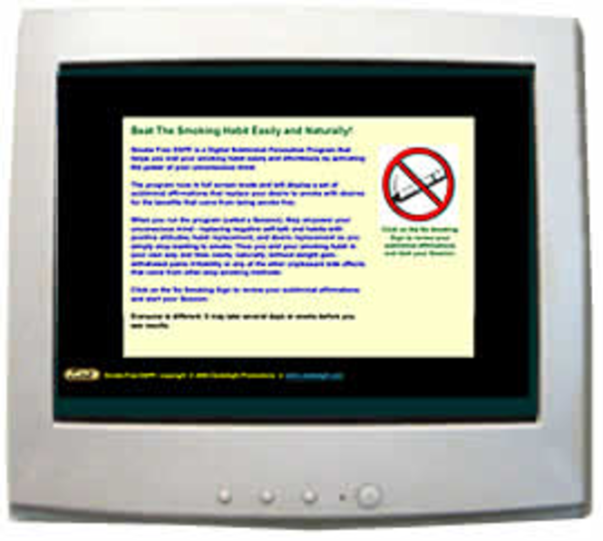 Smoke Free Subliminal Health Program Screenshot
