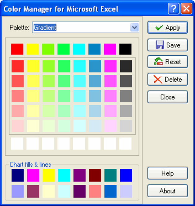Color Manager for Microsoft Excel Screenshot 1