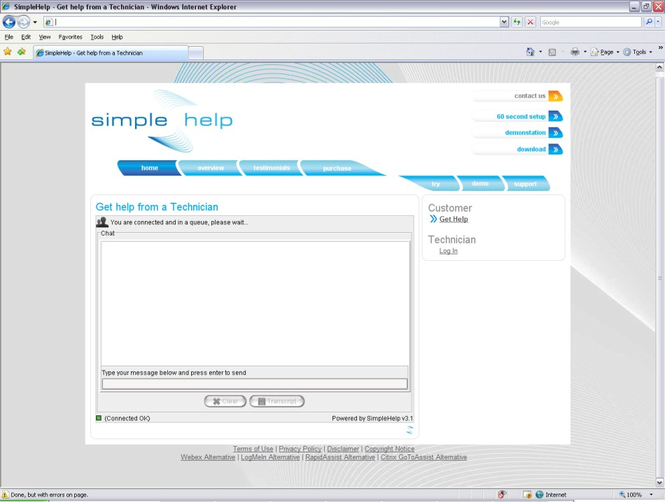 SimpleHelp Screenshot