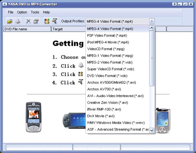 Soft DVD to MP4 Converter Screenshot