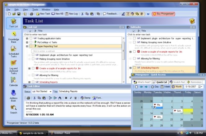 Priorganizer Screenshot 1
