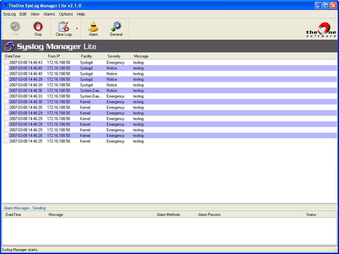 TheOne SysLog Manager Lite Screenshot 1