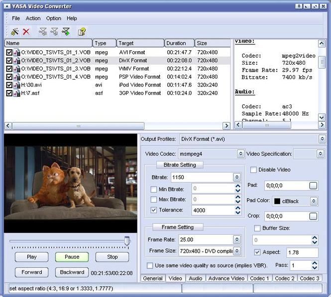 Video Converter Software Screenshot 1